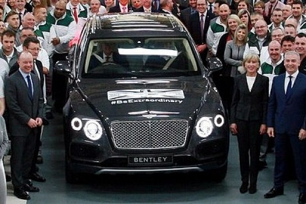 Bentley Bentayga first production unit exits Crewe assembly line
