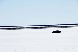 Jaguar XFR prototype at Bonneville Salt Flats