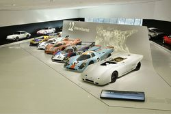 Porsche 917 theme display in Porsche Museum Stuttgart