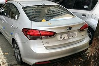 Kia K3 facelift spy photo
