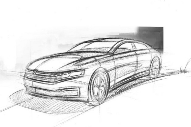 2016 - [Citroën] C6 II Chine (X81) - Page 6 Wcf-citroen-sketches-out-new-c6-for-china-2016-citroen-c6-teaser